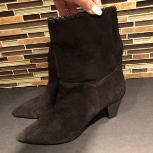 Zara Shoes - Zara Pointed Suede Boots Size 10